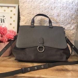 Rebecca Minkoff suede/leather satchel